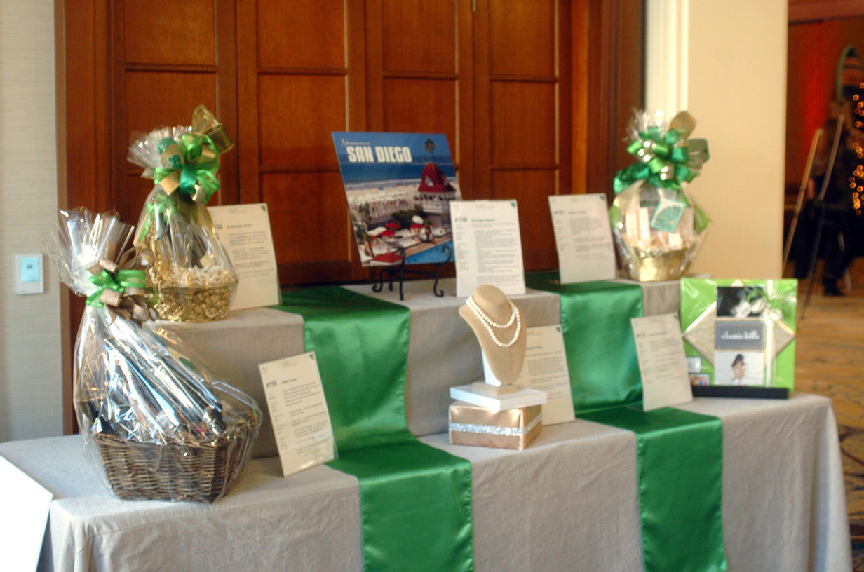 A table displaying auction items