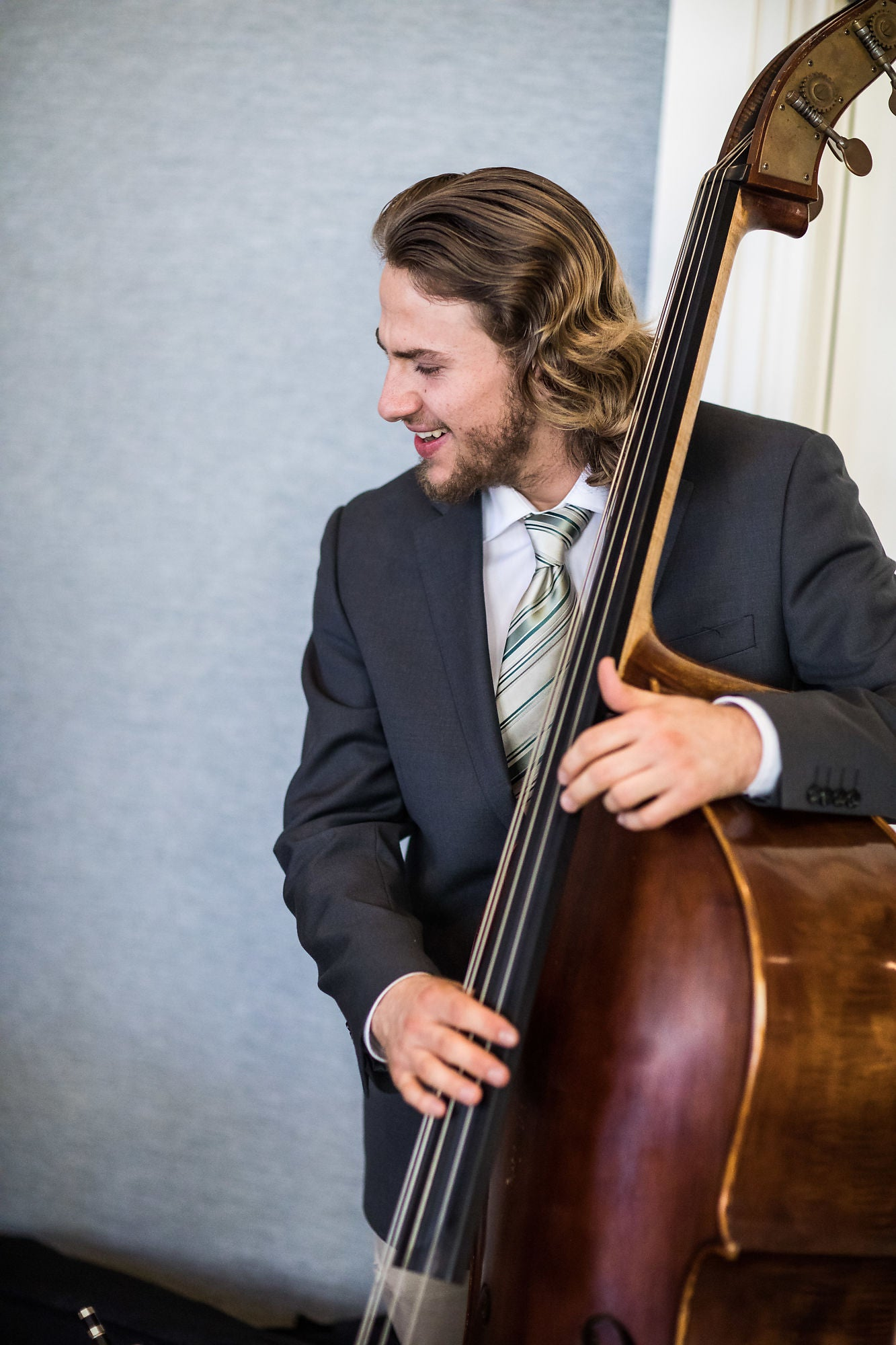 Person with a double bass
