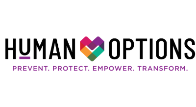 Human Options Logo Prevent, Protect, Empower, Transform