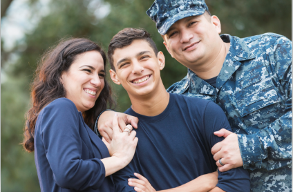 Strong Families, Strong Children is here to help military or veteran family going through a difficult time.