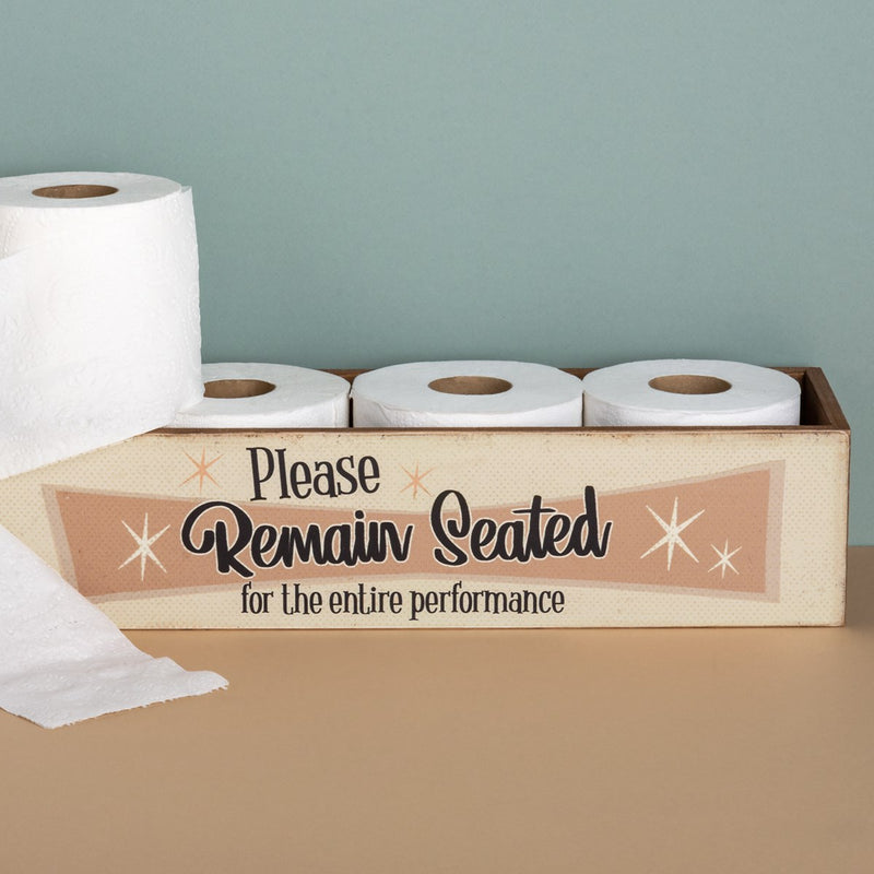 Remain Seated Toilet Paper Holder
