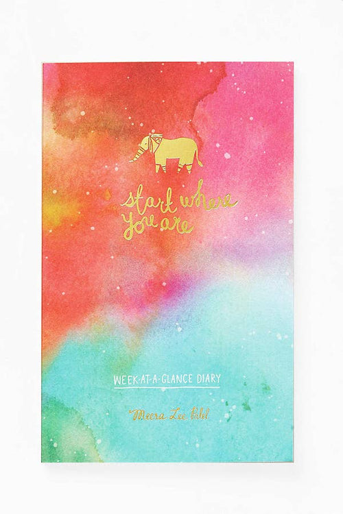 Start Where You Are Week-At-A-Glance Diary/Planner