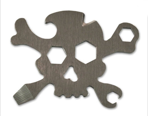 Pirate Multi-Tool (steel skull & bones)