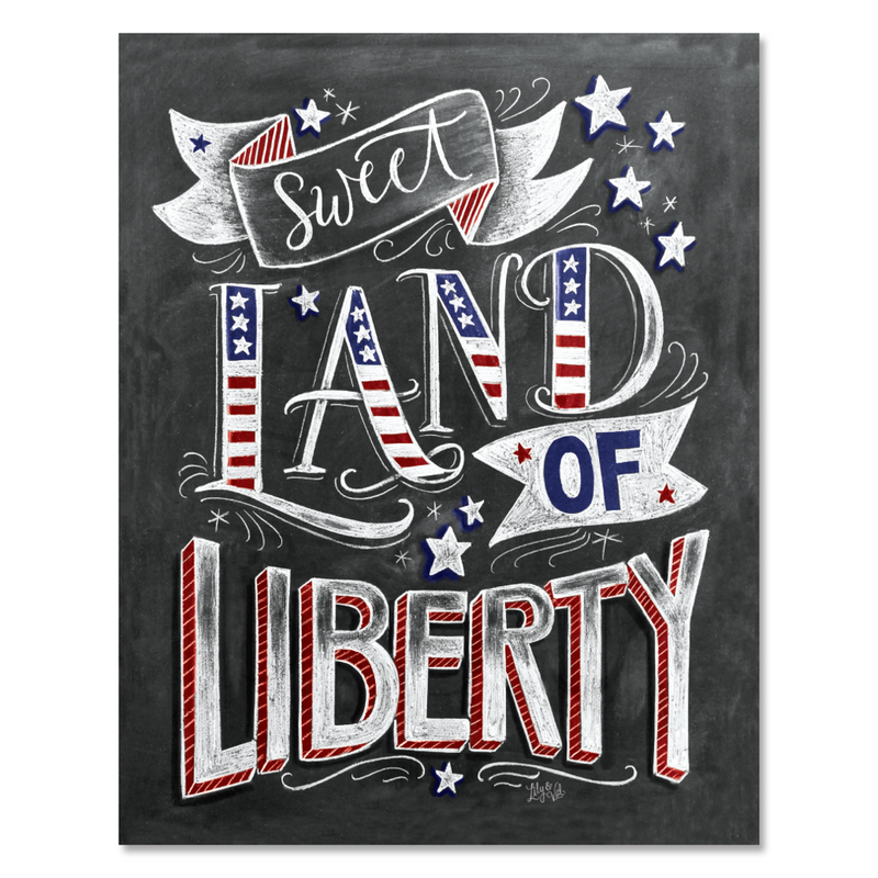 Sweet Land Of Liberty - 8 X 10 Print