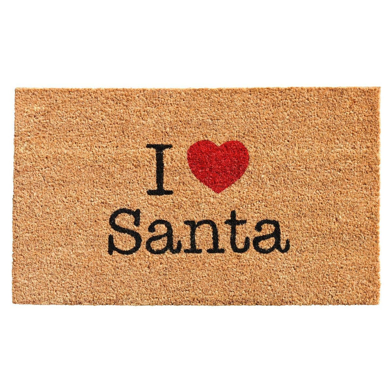 "17"" x 29"" Christmas Love Santa Doormat"