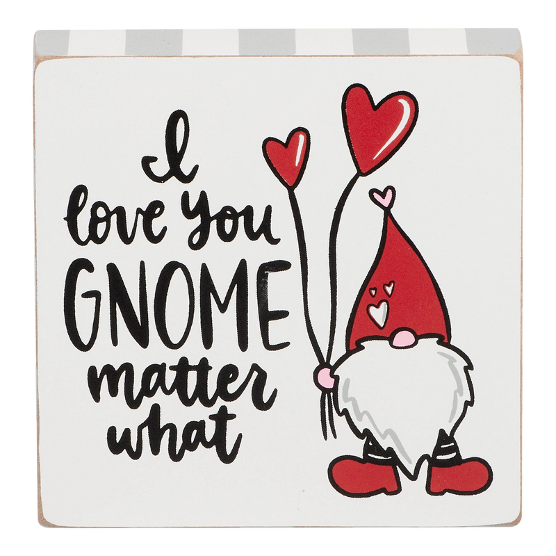 Glory Haus - I Love You Gnome Block Canvas