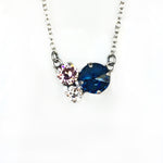 3 Stone Cluster Necklace