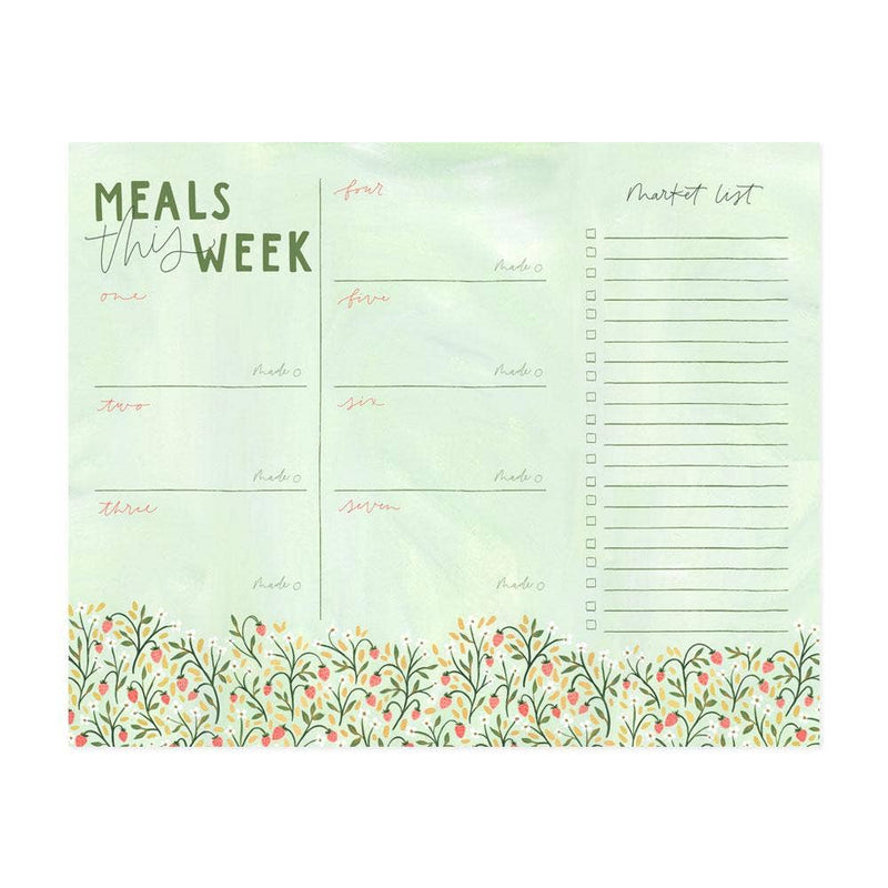Meals This Week Menu Notepad