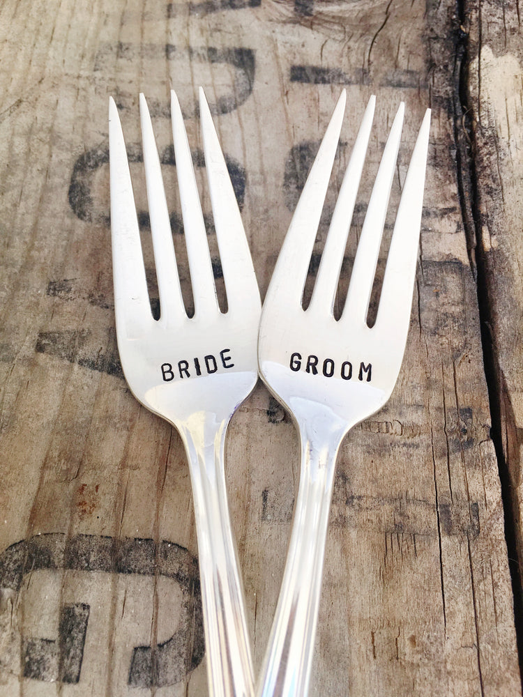 Bride/Groom Fork Set