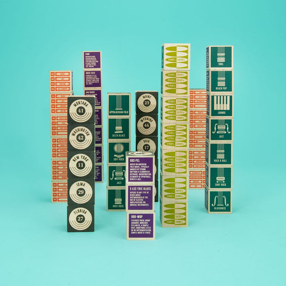 Hand Crafted State of Sound Wooden Blocks