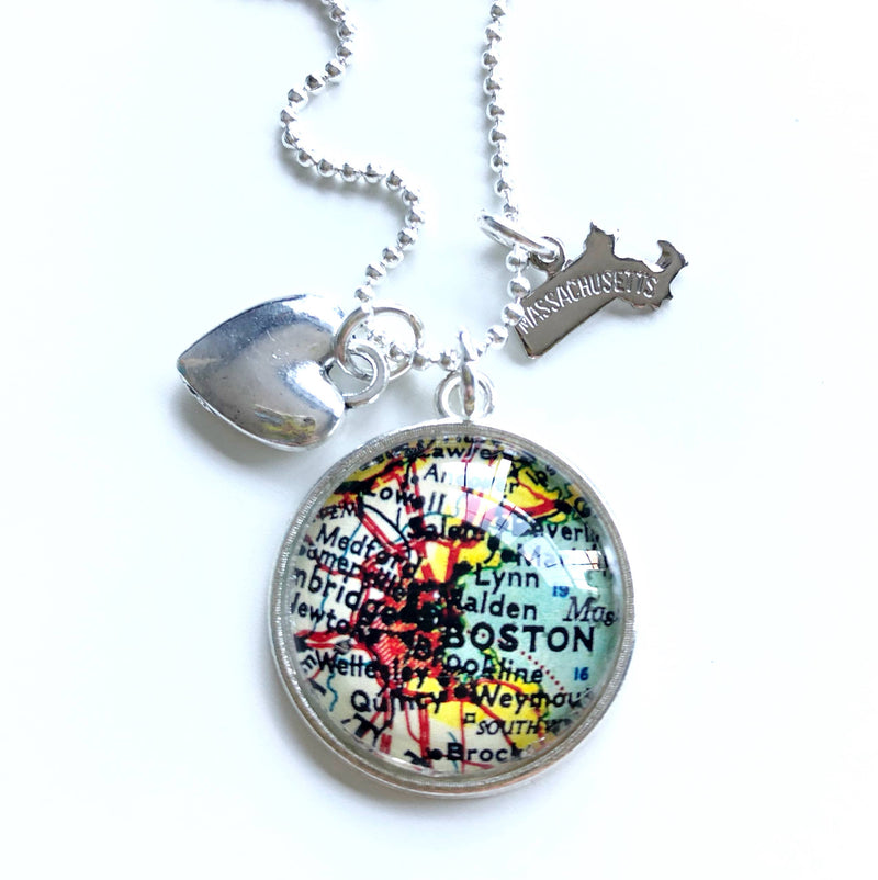 Map Charm Necklace