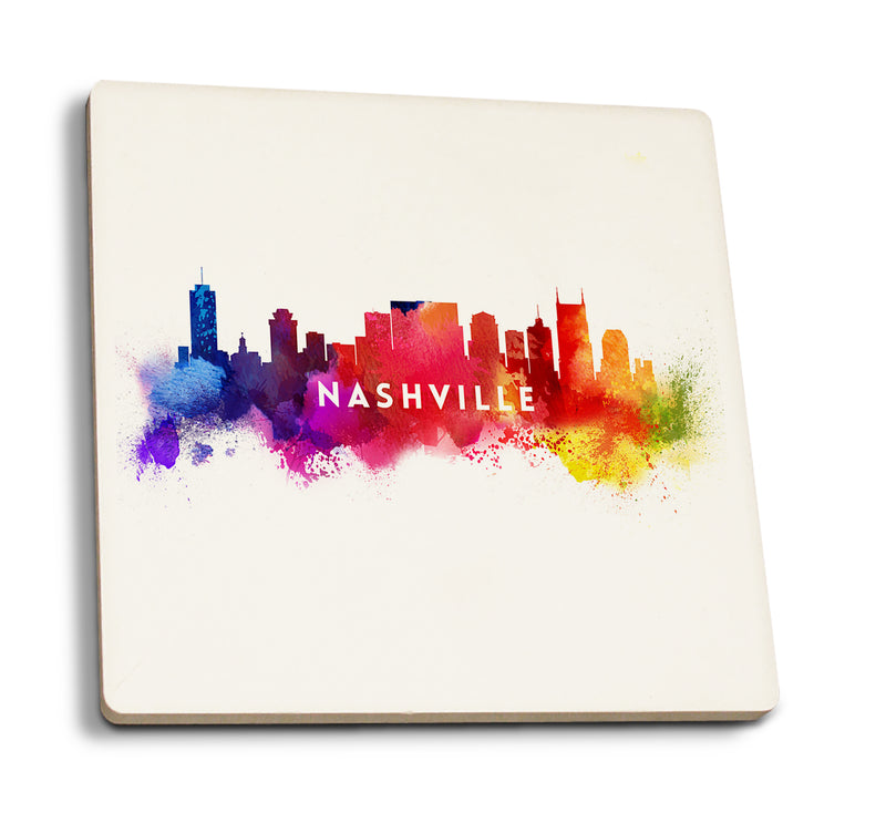 Nashville Tennessee - Skyline Abstract Ceramic Coaster