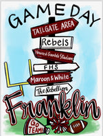 Franklin High Game Day Directional