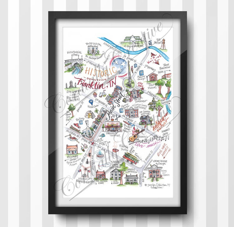 Franklin Map Print
