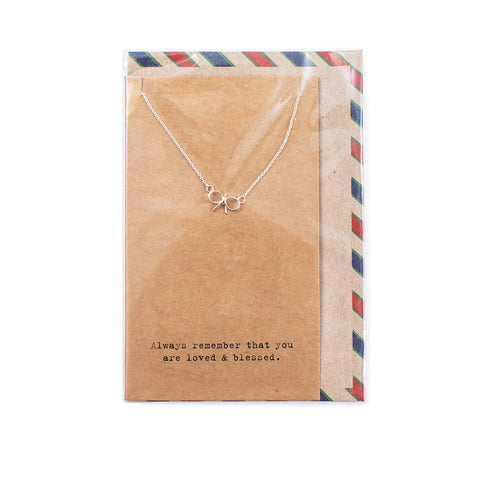 Air Mail Charm Necklace - Sterling Silver