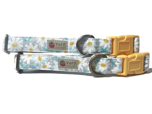 Daisy Chain Organic Cotton Pet Collar (Antique Silver)