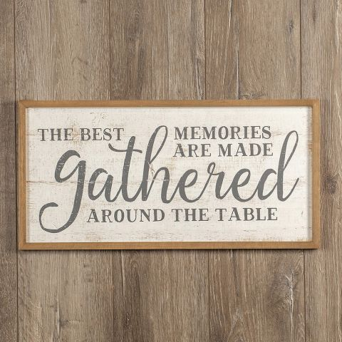 Gathered Memories Wood Sign