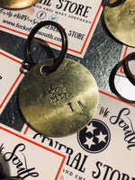 Brass Stamped Key Chain