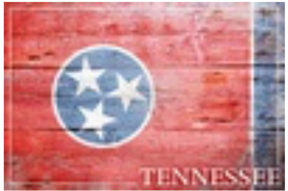 Rustic Tennessee Flag playing cards