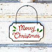 Merry Christmas Door Sign