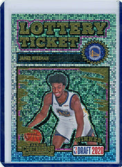 2020-21 Panini Contenders JAMES WISEMAN Lottery Ticket FOTL #10 Warriors RC SP
