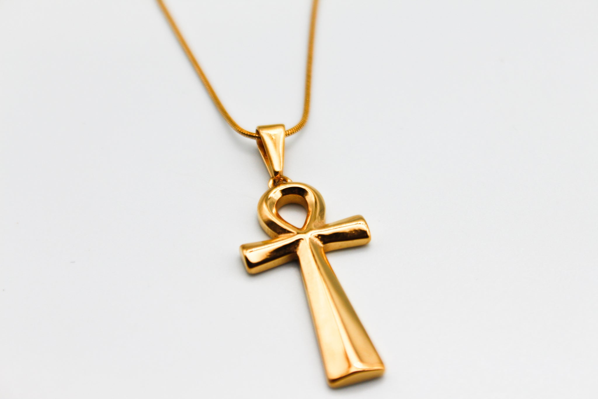 18K Ankh Necklace