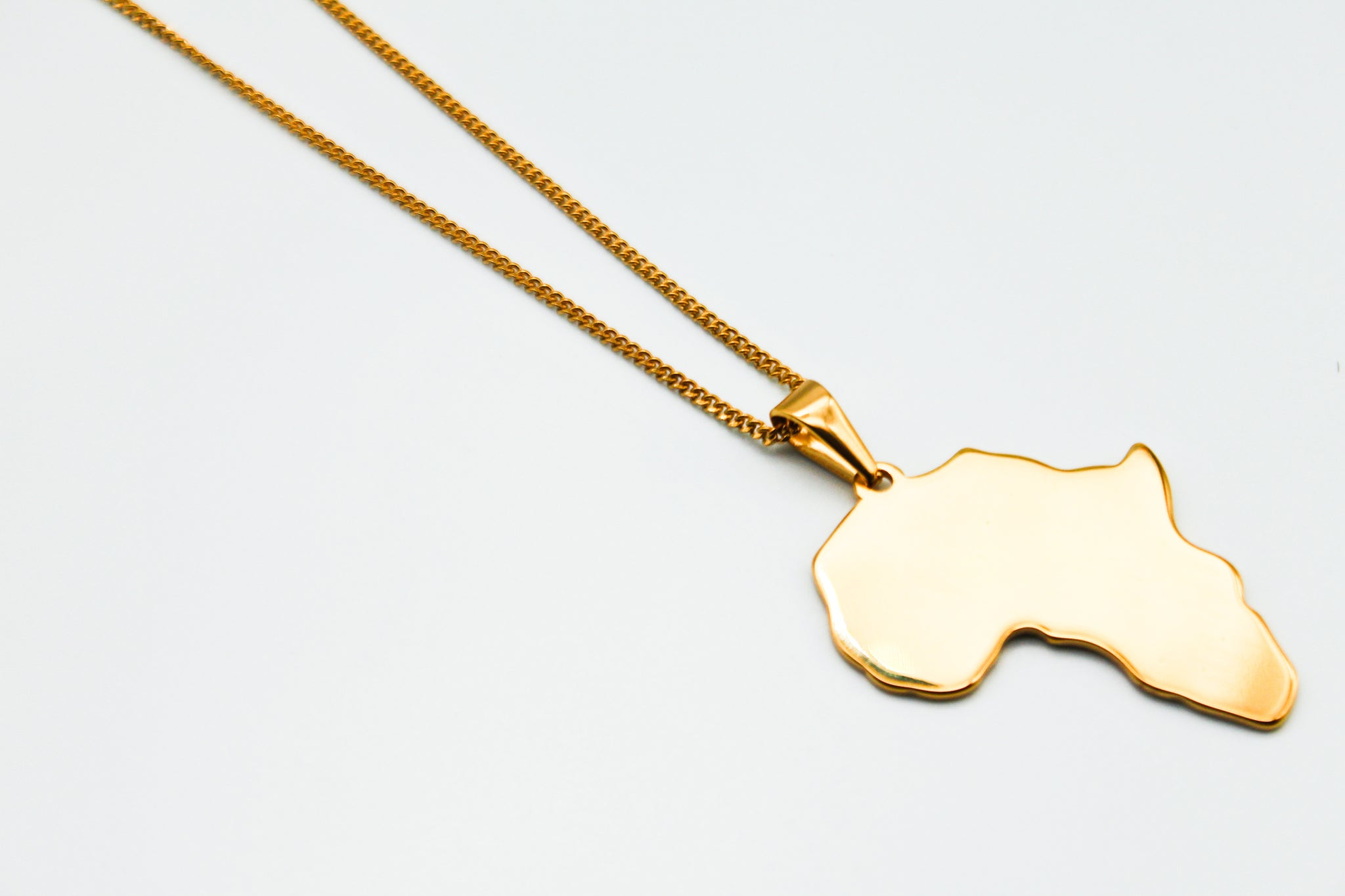 18k Gold Plated Africa Link Chain Necklace