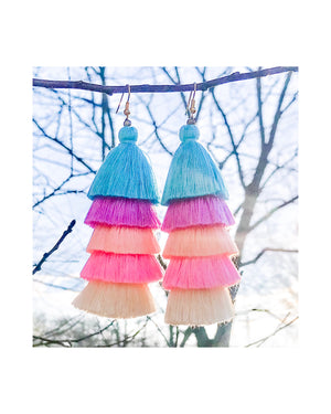 Tassel Earrings in Sorbet