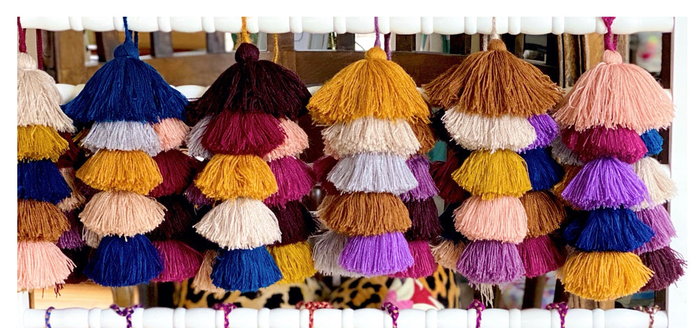 Jumbo Fringe Tassel (Earthy Colors)
