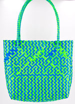 "The ""Mexicana"" Bag in Neon Green/Blue"