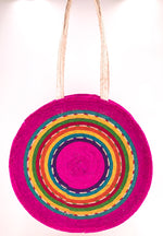 Palm Leaf Round (Hot Pink)- Long Handle