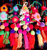 Embroidered Tree Tassels (multi colored)