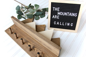 Mountain Shelf & Coat Rack