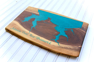Custom Epoxy Lake / Map Boards