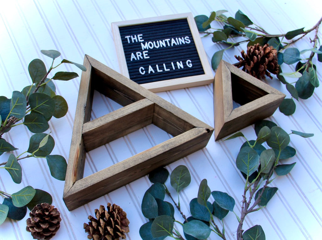 Mini Mountain Shelves