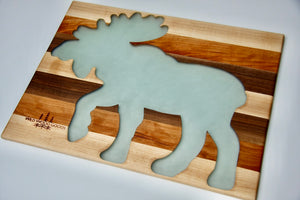 Woodland Animal Epoxy Charcuterie Board