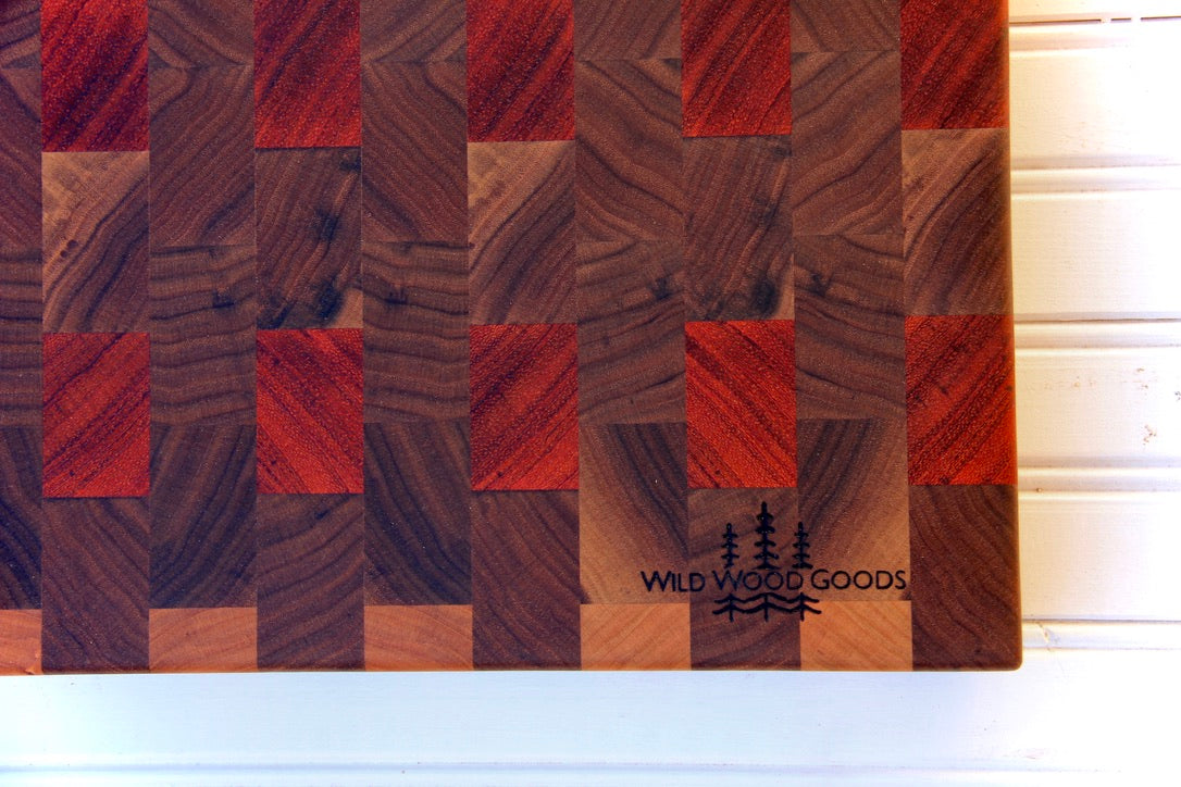 Walnut & Padauk with Maple Accents Prep