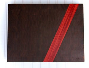 Walnut & Padauk Stripe Butcher's Block
