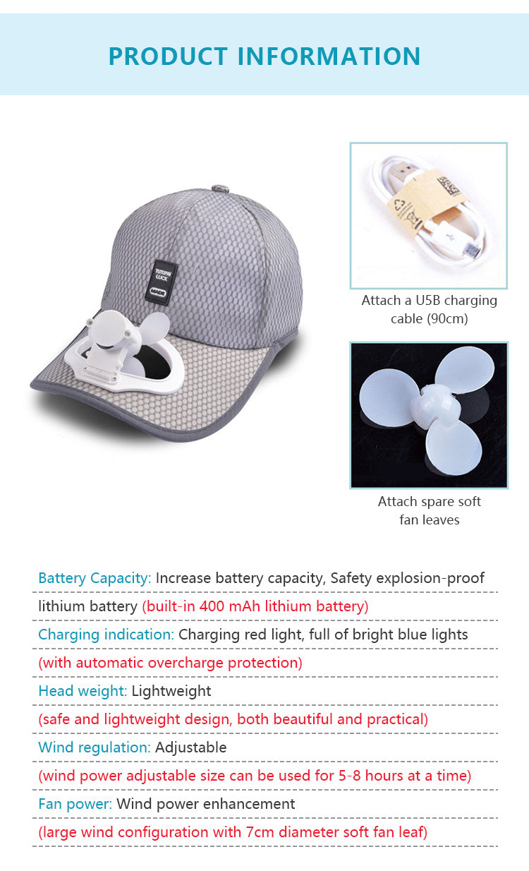 Outdoor Fishing Fan Cap – WallyChic