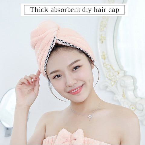 Coral Fleece Dry Hair Cap