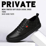 Men's printed soft-soled casual shoes