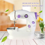 Lighted desktop sewing machine