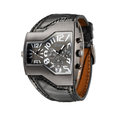 Leather Automatic Quartz Wristwatches