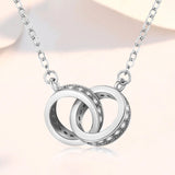 Two-rings necklace