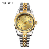 High-end couple gold watch