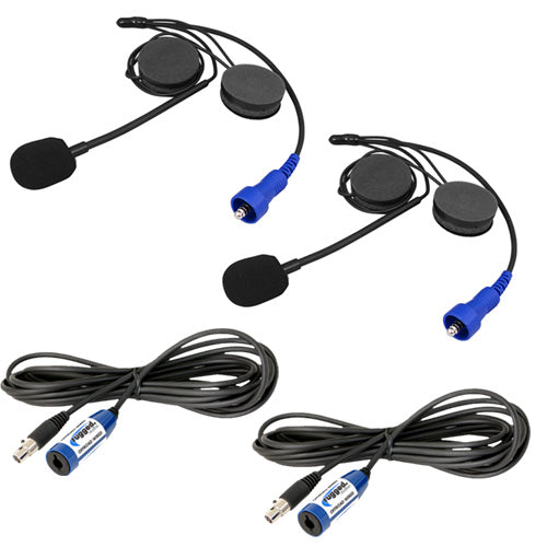 "Rugged Radios ""Plus 2"" Helmet Kit and Cable Expansion Kit"