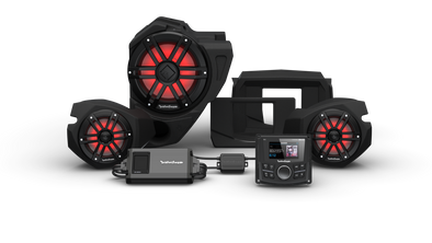 Rockford Fosgate STG 3 PMX-2, 800 Watt, Front Color Optix™ Speaker & Subwoofer Kit for Select Polaris® RZR® Models (Gen-3)