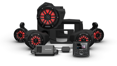 Rockford Fosgate  STG 4 PMX-2, 800 Watt, Front Color Optix™ Speaker, Subwoofer & Rear Speaker Kit for Select Polaris® RZR® Models (Gen-3)