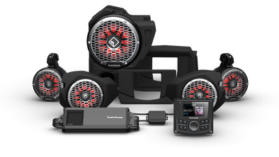 Rockford Fosgate STG 5 PMX-3, 1500 Watt, Front Color Optix™ Speaker, Subwoofer & Rear Speaker Kit for Select Polaris® RZR® Models (Gen-3)
