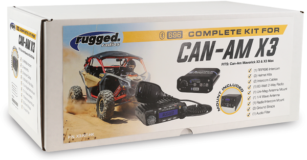Rugged Radios Cam-Am X3 Kit (Dash Mount)